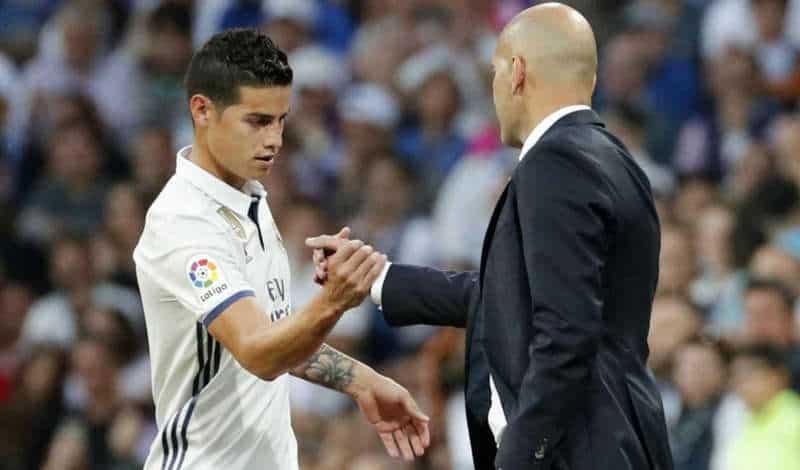Napoli, James Rodriguez tolto dal mercato, Zidane si è convinto