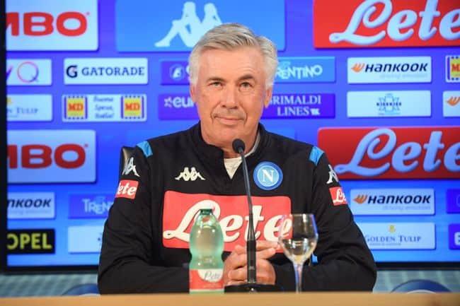 """Ancelotti: """"Vi spiego il caso spogliatoi. Insigne e Milik hanno recuperato"""""""