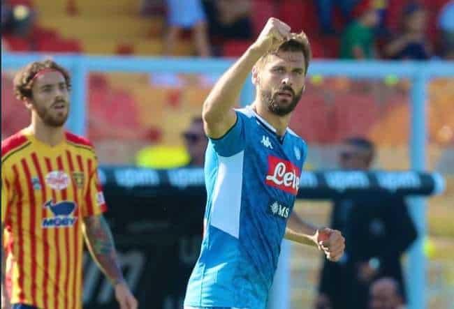 Il Napoli passa a Lecce, 4-1. Doppietta di Llorente. Var protagonistaIl Napoli passa a Lecce, 4-1. Doppietta di Llorente. Var protagonista
