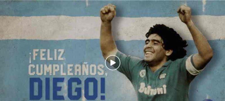 Auguri Maradona. Il video del Napoli è da brividi, ecco le ...