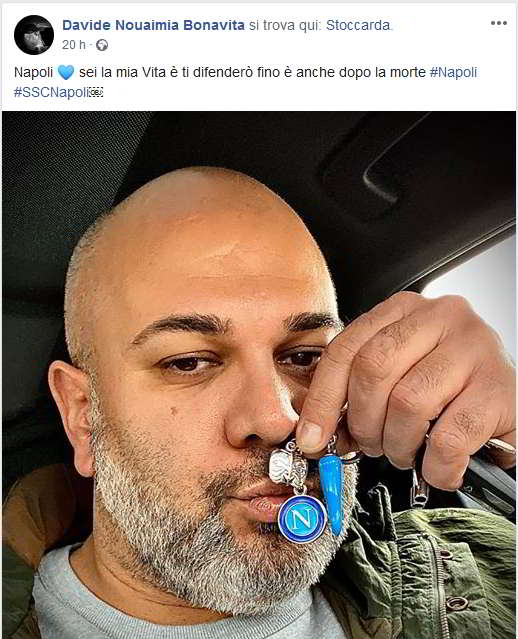 Il leader dei True Boys tifoso del Napoli