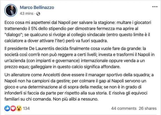 post marco bellinazzo