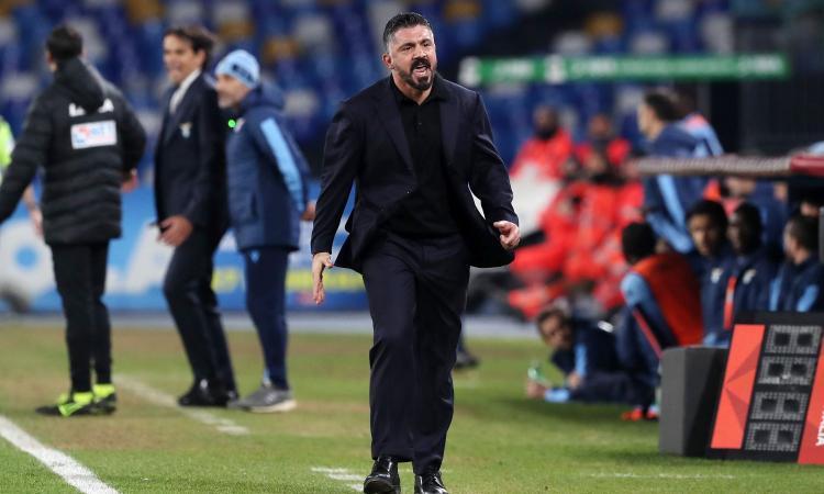 Napoli-Lazio, la reazione di Gattuso nello spogliatoio. Messaggio di ADL