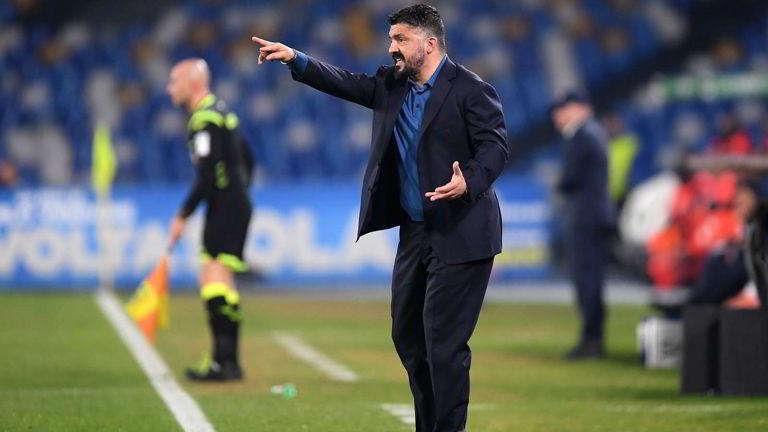 Gattuso parla alla squadra. La reazione negli spogliatoi