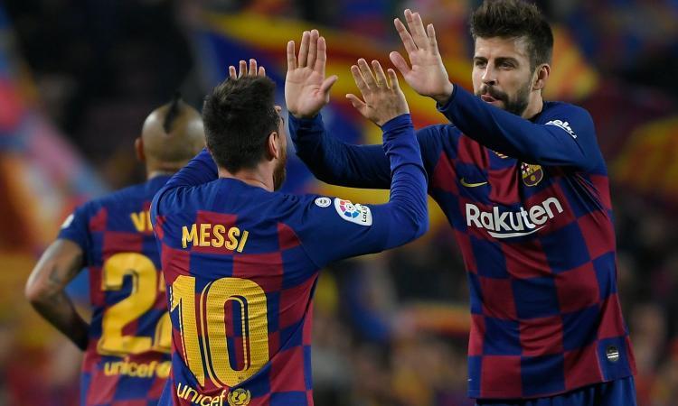 Barcellona, Piquè teme il Napoli. Tra Maradona e Messi sceglie Leo