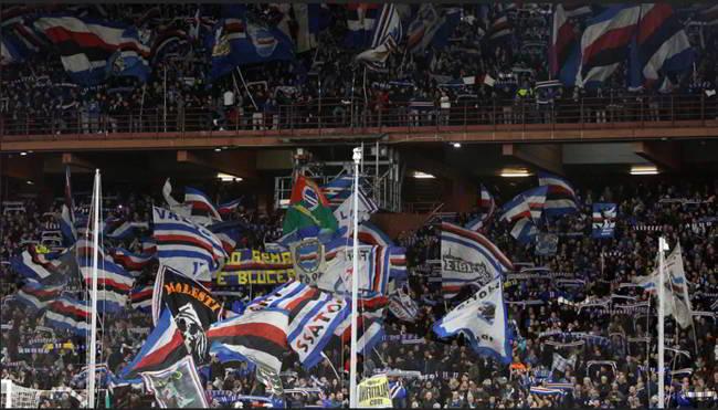 Samp-Napoli, cori urlati prima della partita. Multa pesante in arrivo