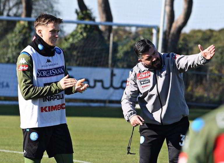 Sampdoria-Napoli, i convocati di Gattuso. Out Fabian, Demme presente