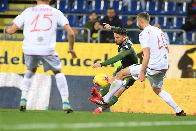 video mertens gol cagliari