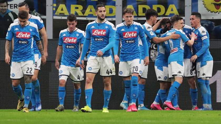 Il Napoli batte per 1-0 l'Inter. Decide una magia di Fabian Ruiz