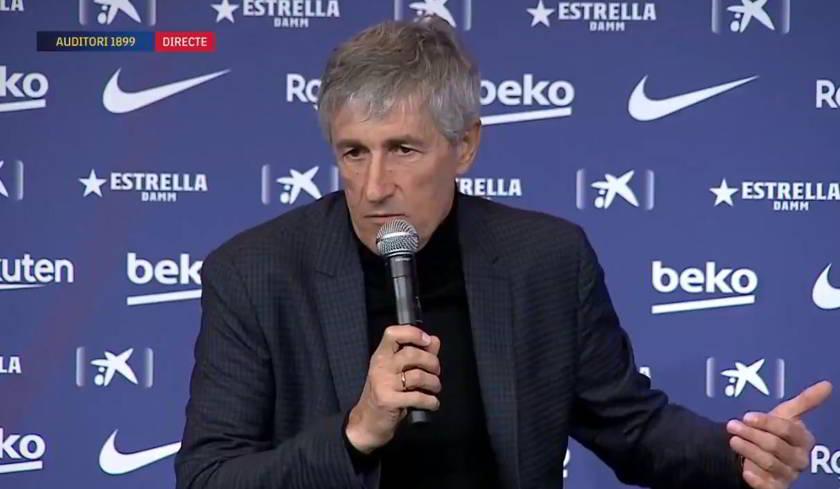"""Setien: """"Barcellona-Napoli a porte chiuse sarebbe triste"""""""