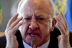 """De Luca: """"La Campania è un'eccellenza. Tanti aspettavano l'ecatombe"""""""