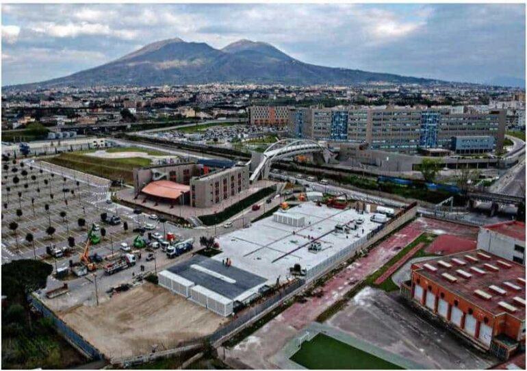 Napoli, reparto COVID costruito in 30 ore. Meglio di Milano e Wuhan