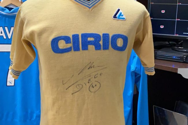 maglia gialla maradona collezione 1984/85