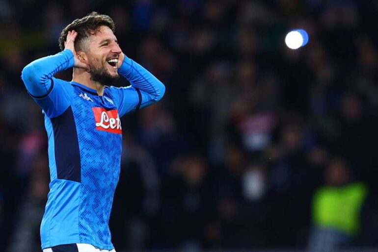Napoli, Mertens out, gioca Milik. Gattuso prepara 5 cambi