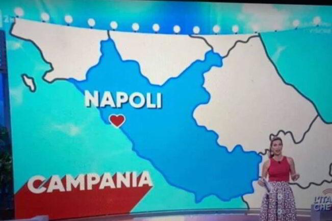 Andiamo a Napoli ma la mappa e del lazio