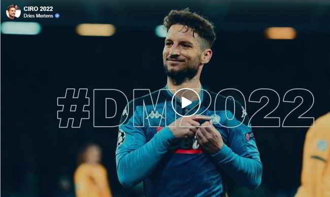 dries mertens video rinnovo