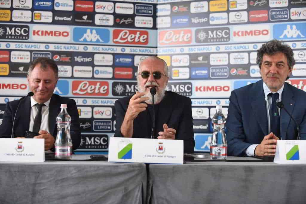 De Laurentiis ritiro del Napoli