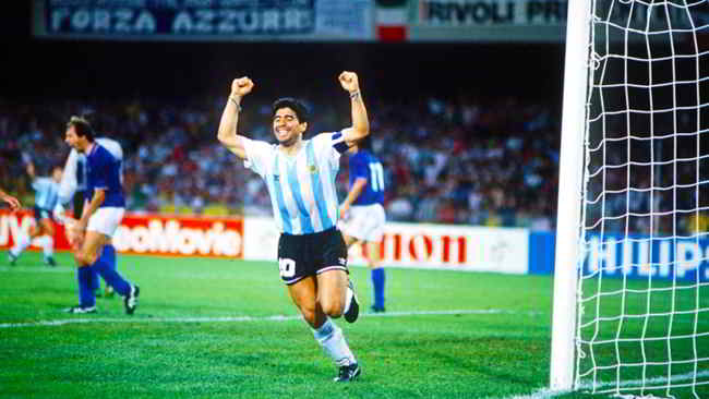 italia argentina messaggio maradona