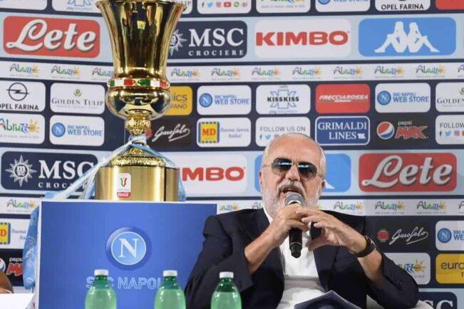 """De Laurentiis:""""La coppa Italia è il gusto compenso per la nostra stagione"""""""