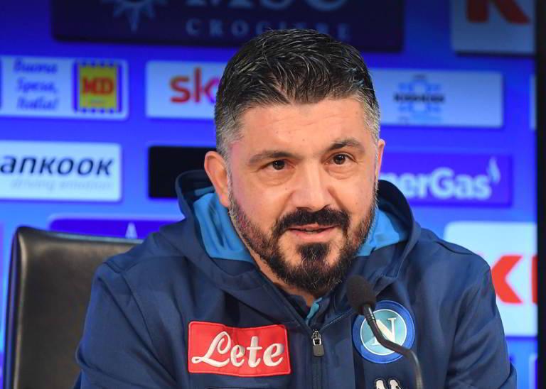 Gattuso conferenza stampa ritiro Napoli