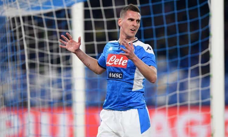 Milik alla Fiorentina, la reazione di De Laurentiis