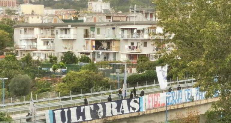 """Ultras del Napoli: """"FIGC serva del padrone""""."""