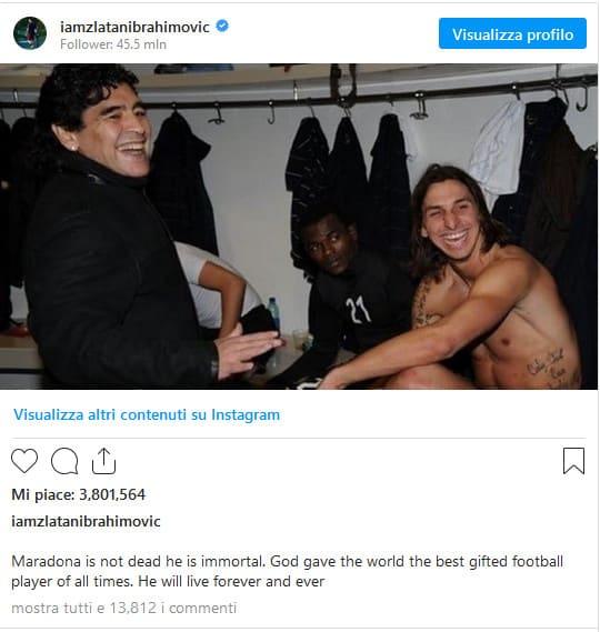 Ibrahimovic Maradona