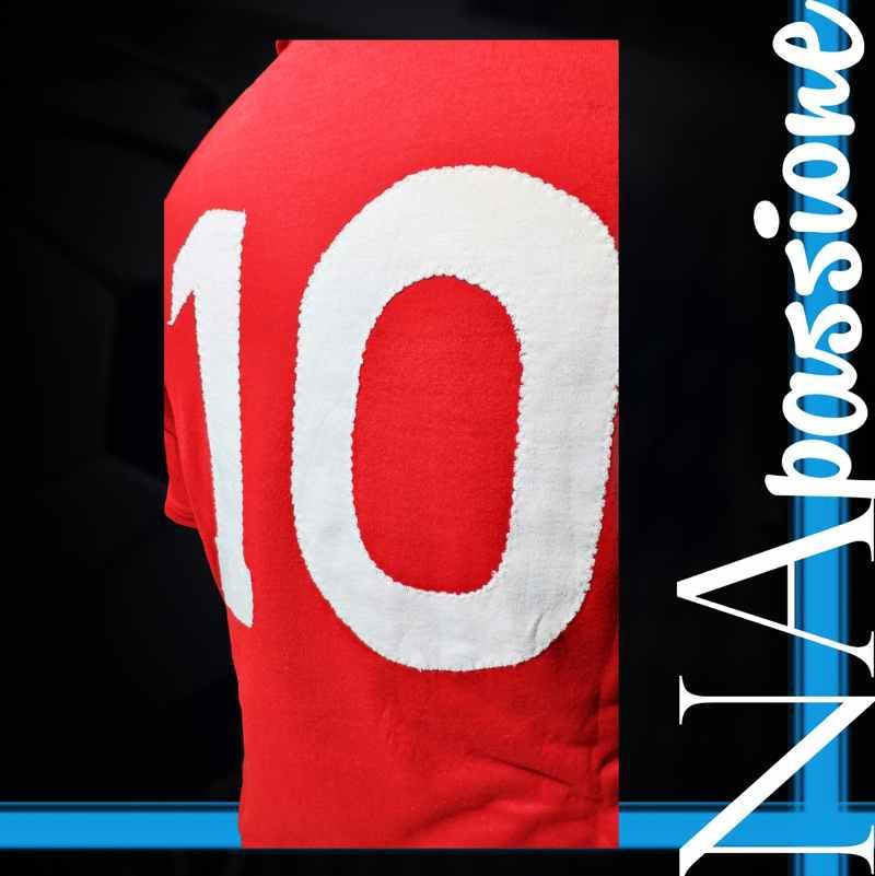 maglia rossa maradona atalanta numero