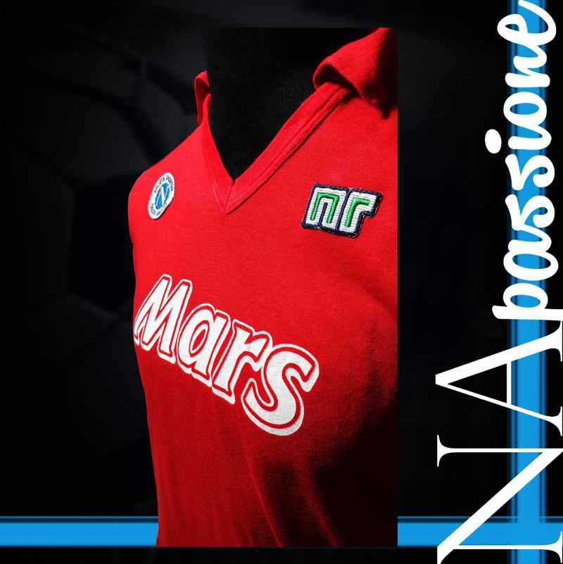 maglia rossa maradona atalanta numero dettaglio