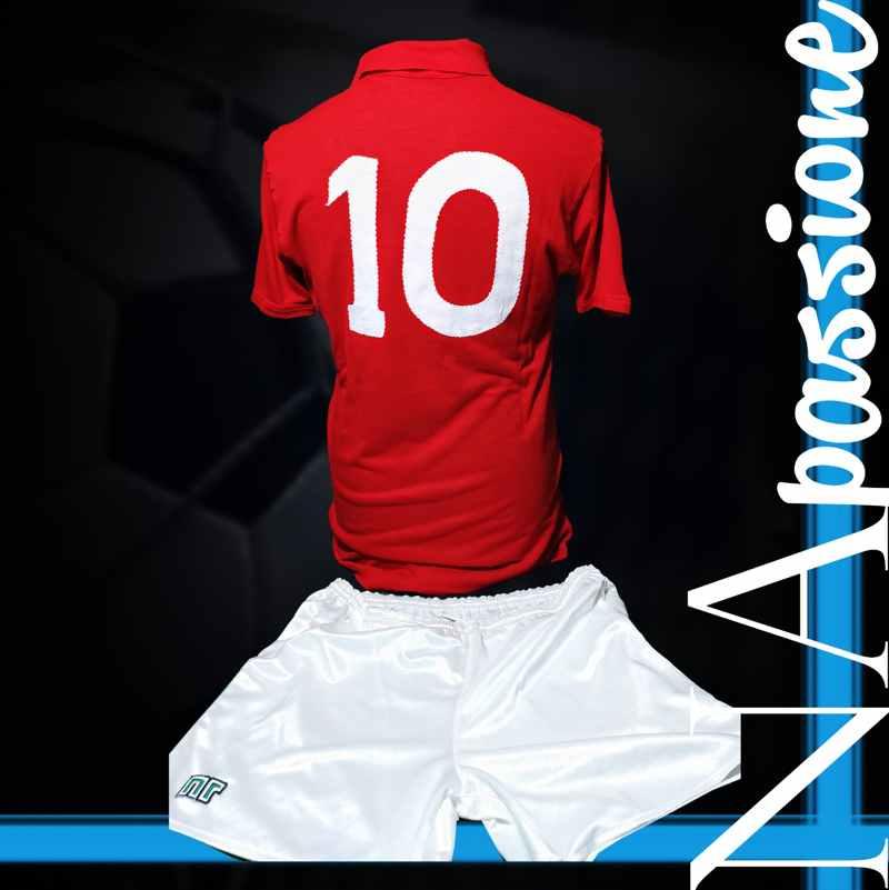 maglia rossa maradona atalanta numero retro