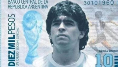 banconota maradona