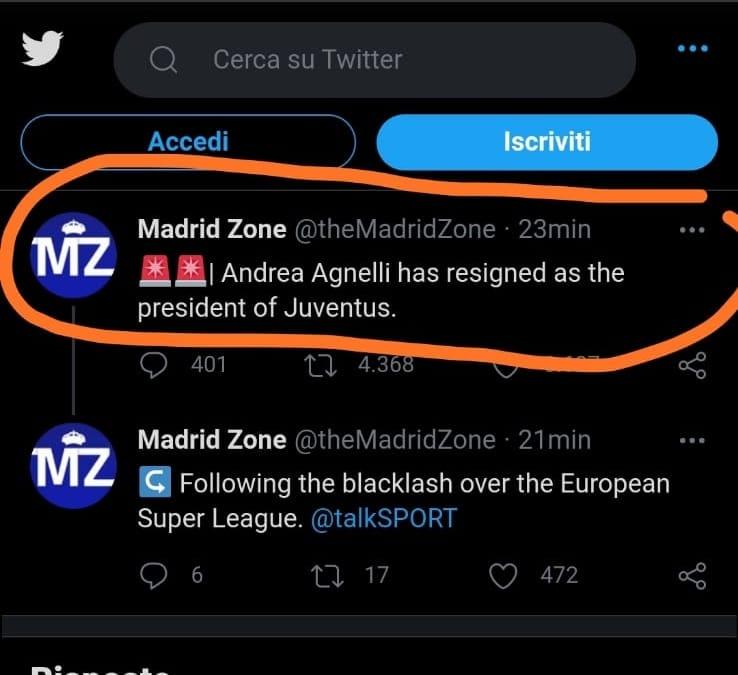 Agnelli si dimette da presidente della Juve, il chiarimento di Tuttosport