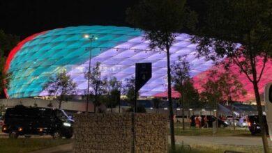 Allianz Arena bandiera italia