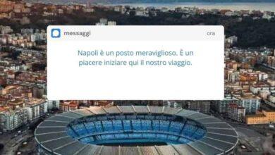venezia napoli messaggio